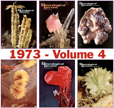 Mineralogical Record 1973 Volume FOUR  (Number ONE thru SIX) - Pristine