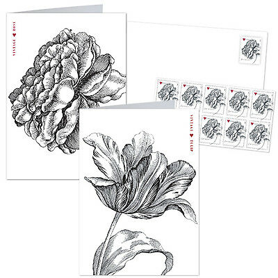 USPS New A Vintage Rose Notecard Set with Stamps