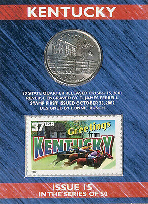 USPS Kentucky State Quarter� and Stamp Set