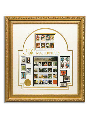 USPS New American Art Stamp Collection Framed Art Piece