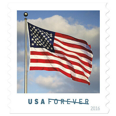 USPS New US Flag Doublesided Booklet of 20