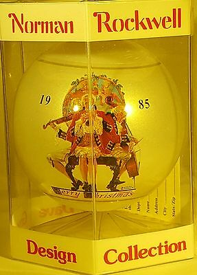 Norman Rockwell 1985 Christmas Ornament By Dave Grossman New