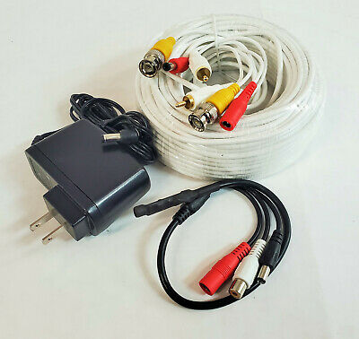 WennoW Security CCTV Powered High Sensitive Microphone with Power Supply & Cable