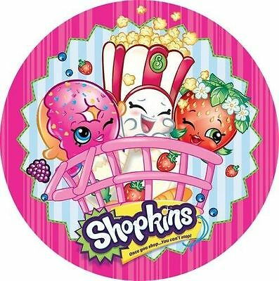 Shopkins Cake Topper LICENSED OFFICIAL Round Edible Icing 16cm Fondant