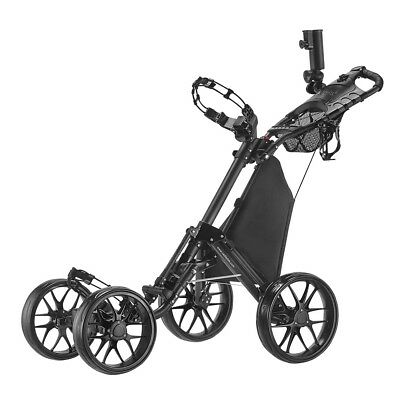 CaddyTek CaddyCruiser ONE One-Click Folding 4 Wheel Golf Buggy - Dark Grey