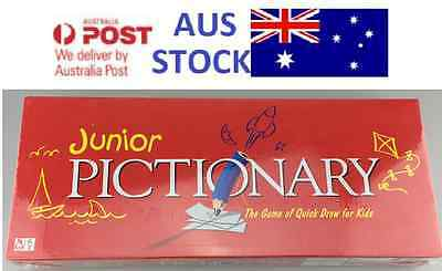 Junior Pictionary GAME Family Board Game Kid  Adult Educational Toy Party Game