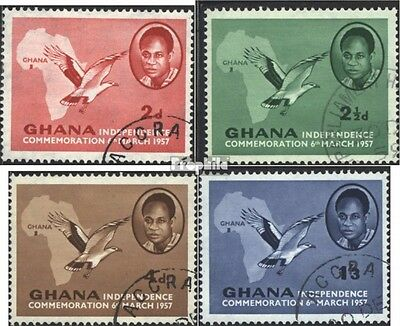 Ghana 1-4 (completa Edizione) usato 1957 Independence Day