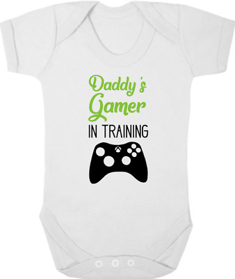 DADDYS GAMER IN TRAINING Bodysuit/Grow/Vest, Newborn Gift, Baby Shower, Gaming