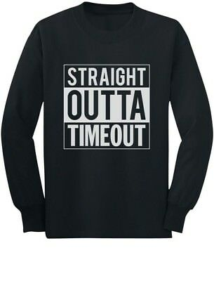 Straight Outta Timeout Funny Toddler/Kids Long sleeve T-Shirt Children's