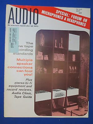 Audio Magazine July 1967 Mics Headphones Mag Tape Standards & Much More