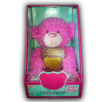 Recordable Message Chad Valley DESIGNABEAR Pink