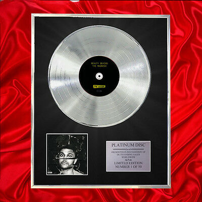 Weeknd Beauty Behind The Madness  Cd Platinum Disc Vinyl Lp Free Shipping To Uk