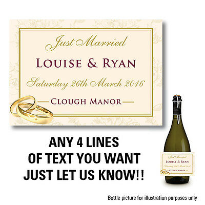 Personalised Champagne Wine Prosecco Bottle Label Wedding Birthday Fathers 44