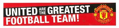 """New Manchester United Football Club """"United are the Greatest"""" Stickers 2 per Pk"""