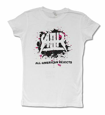 All American Rejects Splatter 2012 Tour AT-OK Girls Juniors White T Shirt