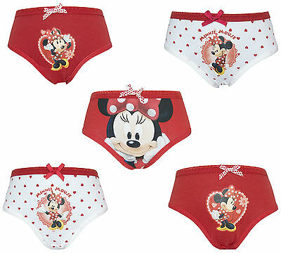 Disney Minnie Mouse 5 Pack Girls Pants / Knickers