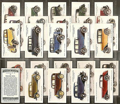Lambert & Butler-Full Set- Motor Cars Grey Back - Exc