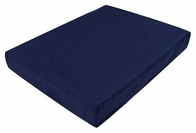 Duro-Med Foam Seat Cushion with Cover Navy Blue 2 Inch x 16 Inch x 18 Inch