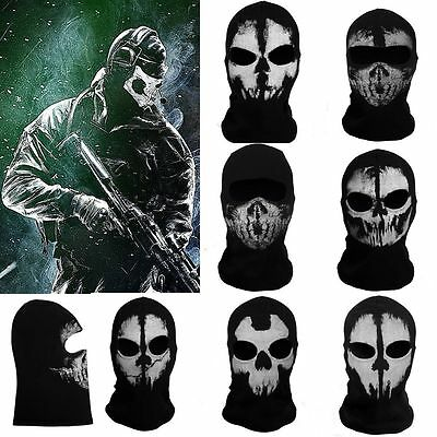 CALL OF DUTY Ghost cráneo capó máscara Hood Biker ski AIRSOFT Mask COS disfraz