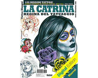 DAY OF THE DEAD SKULL WOMEN #2 Tattoo Flash Design Book 66-Pages Sketch Supply