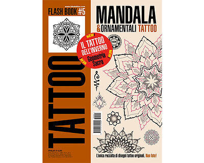 Geometrical Tattoo Flash Design Book 66-Pages Line Sketch Black Color Art Supply