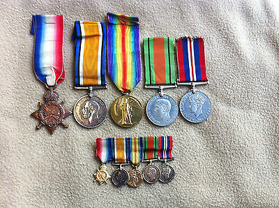 Original WW1 and WW2 Medal Group Awarded to Blacksmith W.J. Moyse Royal Navy