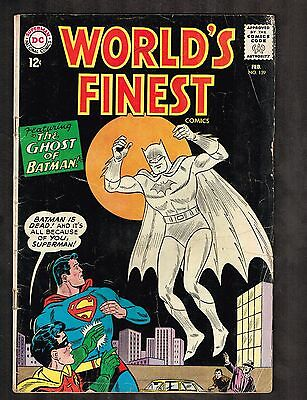 """World's Finest #139 ~ Superman / """"The Ghost of Batman"""" ~1964 (4.0) WH"""