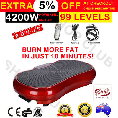 4200W 2017 Ultra Slim Vibration Machine Plate Platform Whole Body Shape Exercise