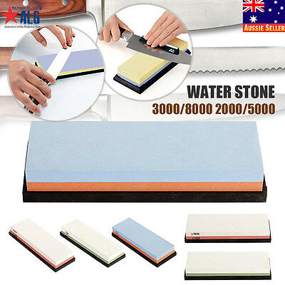 Dual Whetstone Kitchen Knife Grit Sharpener Sharpening Water Stone 3000/8000