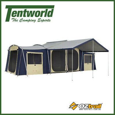 OZtrail Chateau 12 Man / Person Canvas Cabin Fast Frame Camping Tent