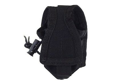CONDOR Black MOLLE Belt Carabiner HHR Radio Holster Pouch L/R Antenna MA56