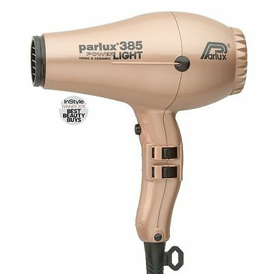 Parlux 385 Ceramic & Ionic Pro Hair dryer Light Gold FREE AUS POST EXPRESS