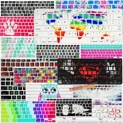 """Colorful Prints Silicone US EU Keyboard Skin Cover for Macbook Air Pro 13""""15""""11"""