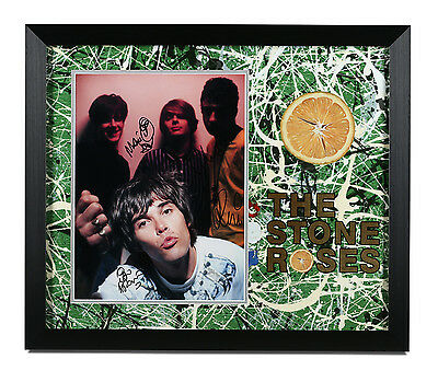 The Stone Roses Signed Large Photo Framed Autograph Memorabilia Ian Brown + COA