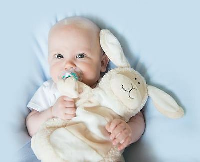 New Baby Sleepytot Bunny or Lamb Dummy holder Comforter Security Blanket LARGE