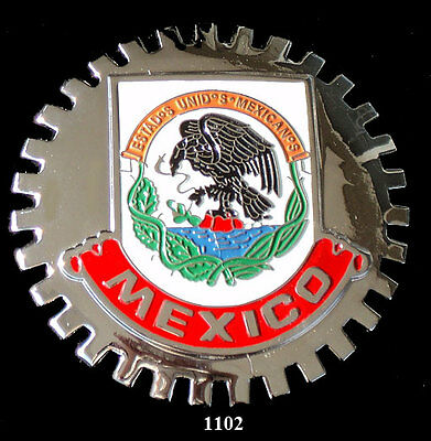 Car Grille Emblem Badges - Mexico (Crest)