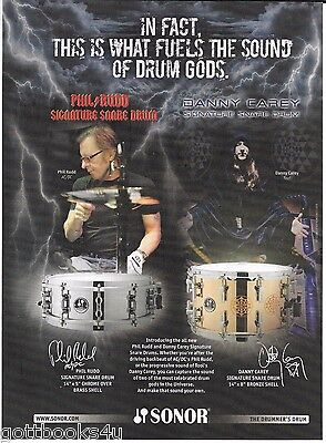 Sonor Drums - Phil Rudd of AC/DC / Danny Carey of Tool- 2010 Print Advertisement