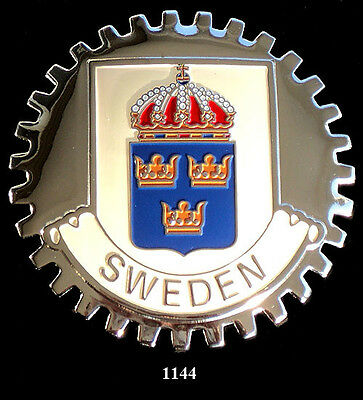 Car Grille Emblem Badges - Sweden(Crest)