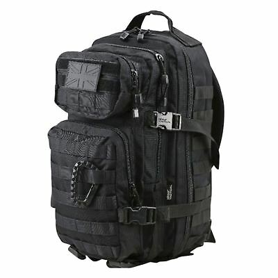 Kombat 28L Molle Backpack - POLICE TACTICAL MILITARY ASSALT CAMPING ARMY BLACK