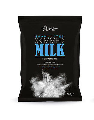 Granulated Skimmed Milk Whitener Powder Vending Ingredients, 10 x 500g Bags