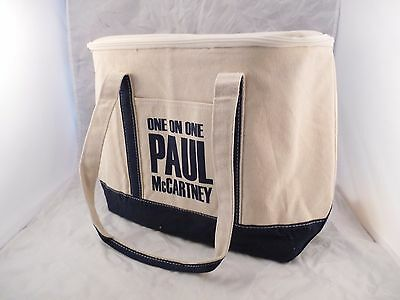Rare Beatles Paul Mccartney One On One Tour 2016 Large Canvas Zip Tote Bag New