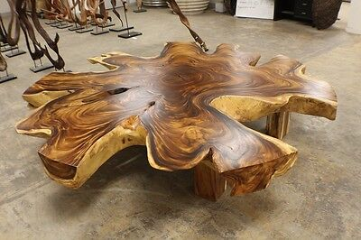 "93"" Round 6"" Thick 1 slab coffee table solid acacia rare one cut live edge cool"