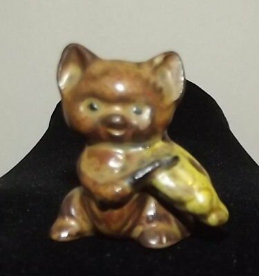 VTG TINY collectibles kitten figurine CAT playing fiddle   MINIATURE statue