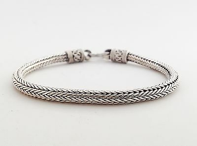 Bali Naga Tulang Weave Chain Link Sterling Silver 925 Mens Jewelry Bracelet