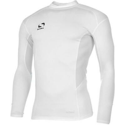 Compression Base Layer Top Kids Sondico Mock Neck Long Sleeve Tight Shirt
