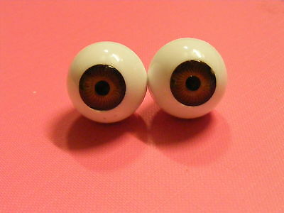 Reborn / Porcelain Doll Eyes FULL ROUNDS 18mm BROWN Discontinued Line