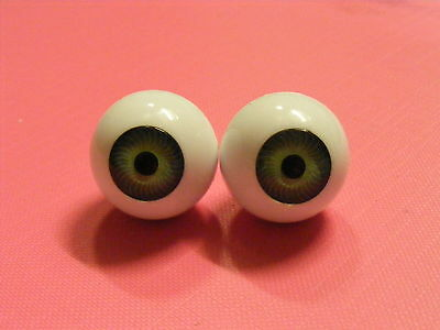 Reborn / Porcelain Doll Eyes FULL ROUNDS 22mm GREEN  Discontinued Line