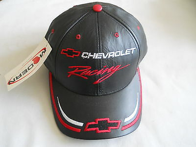 New Chevrolet Racing Genuine Leather Hat Cap Made in USA by Modern