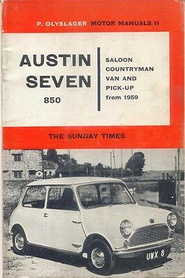 Mini Austin Seven 850 Saloon Countryman Van & Pickup from 1959 Olyslager Manual
