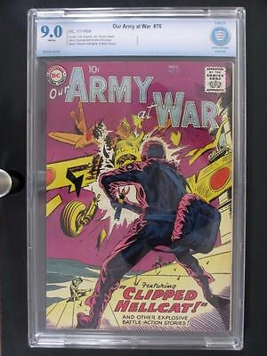 Our Army At War #76 -NEAR MINT- CBCS 9.0 NM - DC 1958 - 2nd HIGHEST GRADE!!!